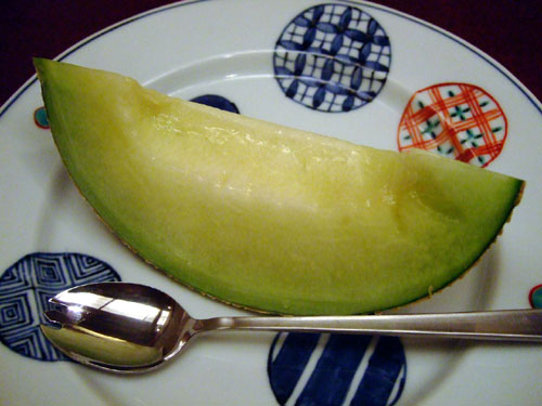 Dessert (honeydew from Shizuoka)