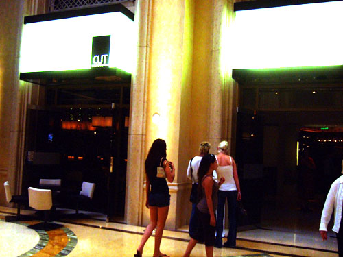 The Shoppes At The Palazzo. CUT is located in the shops at
