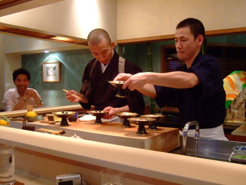 Hiro-san and Ken-san Prepare the Toro Senmai Maki