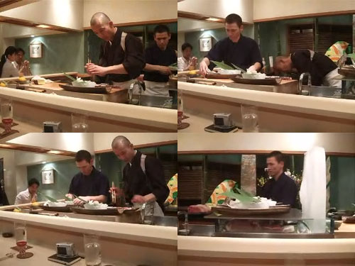 Hiro-san and Ken-san Prepare the Sashimi Course