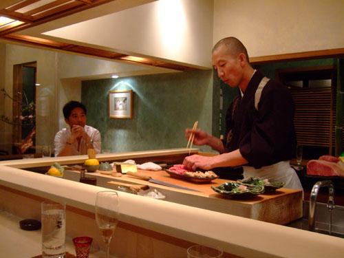 Hiro-san Plates the Shabu Shabu