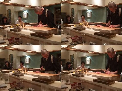 Hiro-san Cuts and Tenderizes Saga Beef...