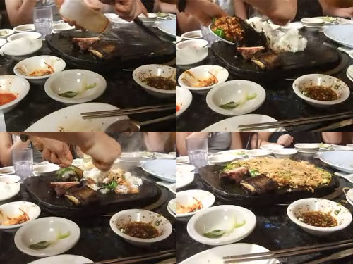Cooking Kimchi Bokkeumbap