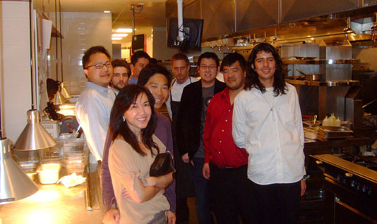 Group Photo with Chef de Cuisine Michael Voltaggio and Sous Chef Marcel Vigneron
