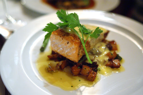 Coriander Crusted Wild Alaskan King Salmon