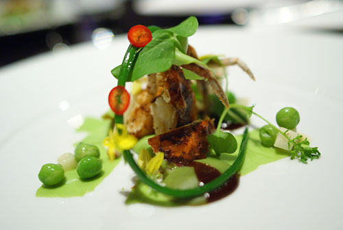 SOFT SHELL CRAB | peas, five spice, duck