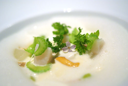 LILAC | scallop, shellfish, honeydew