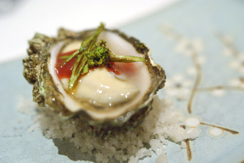 Kumamoto Oyster with Indian Celery