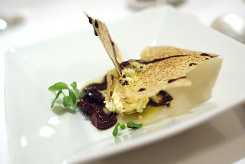 Arbequina Olive Oil-Chocolate Chip Parfait with Dried Cherries