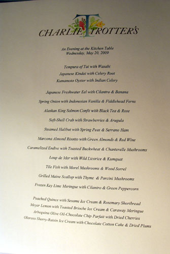 Kitchen Table Menu